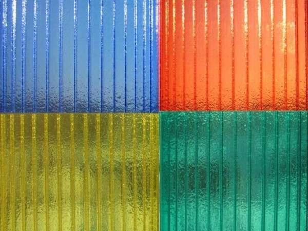 Фото сотовый поликарбонат всех цветов 2