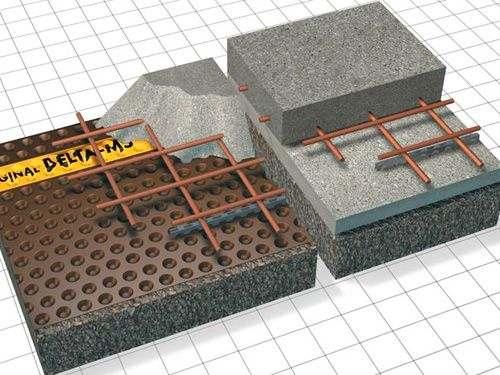 Применение геомембраны: замена бетонной подготовки
